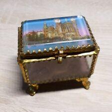 Ancien Coffret boîte à bijoux verre biseauté