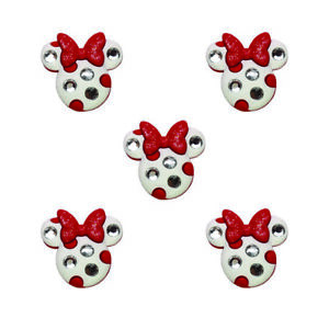 Childrens Buttons - Disney Minnie Mouse Rhinestone / Glitter - Novelty Buttons