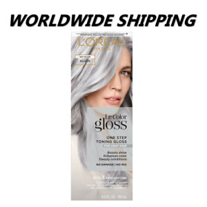 L'Oreal Paris Le Color Gloss In-Shower Toning Gloss Silver WORLD SHIPPING