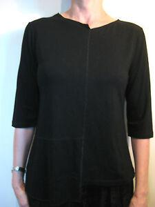NW Nicola Waite Essentials Size 0 or 8 Black Basic Long sleeve T-shirt Designer
