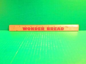 "Wonder Bread ""Helps Build Strong Bodies 12 Ways"" Souvenir Wood Ruler"