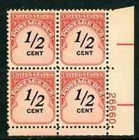USA 1959 ⭐ ½¢ Postage Due ⭐Scott # J88 ⭐ Plate # Block ⭐ MNH ⭐ B450 ⭐☀⭐☀⭐