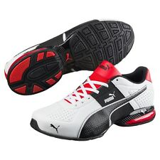 Puma Mens Cell Surin 2 FM White Black Flame Scarlet Red Running Shoes Size 10