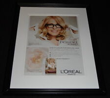 Diane Keaton 2015 L'Oreal Excellence Framed 11x14 ORIGINAL Advertisement