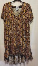 Milk It (UK) Print Smock Dress great dress for summer and the beach Size L