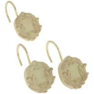 Victorian resin shower curtain hooks, set of 12