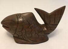 Vintage Wood Fish Figurine Decor 7� Long