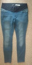 NEW LOOK BLUE SKINNY MATERNITY JEANS SIZE 12