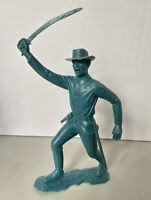 "Vintage Marx 6 inch blue Civil War cavalry figure with sword 6"""