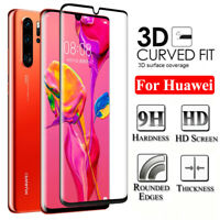 For Huawei P30 P20 Lite Mate 20 Pro FULL COVER Tempered Glass Screen Protector
