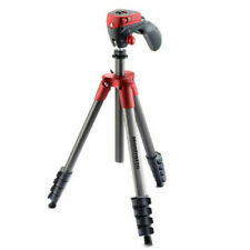 Manfrotto Compact Action Aluminium Tripod with Hybrid Head - Red