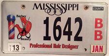MS PROFESSIONAL HAIR DESIGNER STYLIST license plate Barber Salon Hairdresser Cut