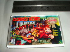 SUPER NINTENDO Game cover aimant de réfrigérateur Donkey Kong Country