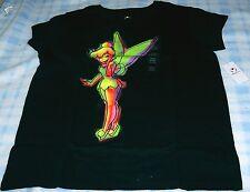 New Disney Tinkerbell Fairy Black Short Sleeve T-Shirt Large(10/12) NWT