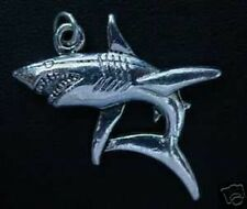 Silver pendant charm Jaws Jewelry Look New 13+ Grams Shark