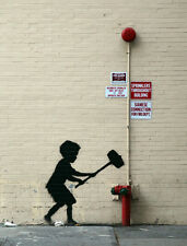 QUALITY BANKSY ART IN NEW YORK PHOTO PRINT (HAMMER BOY)