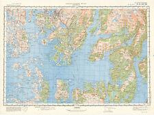 Russian Soviet Military Topographic Maps - NESTTUN (Norway), 1:100 000, ed. 1977