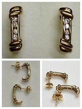 Orecchini 333 oro con pietre di colore Gioielli circolari in pendenti a bottone