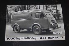 Ancien dépliant catalogue Renault - Camionnette 1000 kg 1400 kg 2,5 t Fourgon