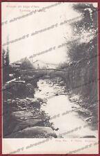 BRESCIA MARONE 02 LAGO d'ISEO - PONTE Cartolina timbrata 1901
