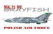 """Mig 21 mf """"grayfish"""" (polish af special marquage) 1/72 akkura limited edition"""