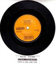 TROGGS Wild Thing & With A Girl Like You 45 record + juke title strip BRAND NEW