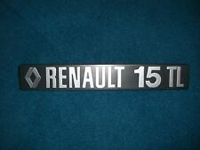 Emblema/BADGE RENAULT 15 TL