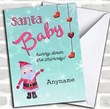 Tarjeta De Bebé De Navidad Personalizado De Santa