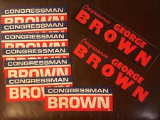 George Brown Congressman Vintage Political Sticker Lot of 9 California 42nd