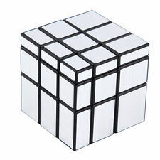 3x3x3 Magic Cube Puzzle Ruler Mirror Intelligence Game KidsToy Silver nice DI