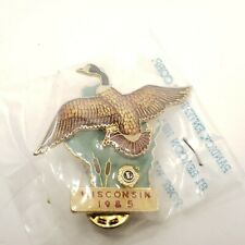 1985 Lions Club Pin Wisconsin Pin Canada goose