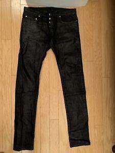 Dior Hedi Slimane Kanye West Yeezy Black Waxed Jeans Holy Night Pants Size 31