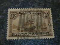 CANADA POSTAGE STAMP SG195 20 CENTS 1908 DULL BROWN ROLLER CANCEL FINE-USED