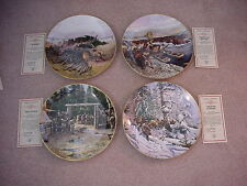 John Clymer Gorham Collector Plates, Lot of 4 Lewis & Clark Expedition Series