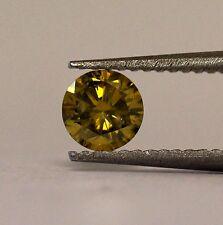 GIA certified .48ct SI2 deep brownish greeenish yellow diamond 5.02-5.06x3.01mm