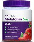 Natrol Strawberry Melatonin Gummies, 5 mg, 90 ct count Sleep Support non-GMO