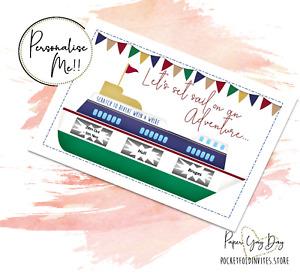 Scratch & Reveal Surprise Trip Hidden message Cruise Card Holiday Card Gift Idea