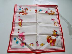 ~Rare Vintage Walt Disney LADY Lady and The Tramp Handkerchief Cute!!