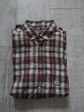 DUCK & COVER Men's Tartan CHECKED Short Sleeved Shirt Size L Blue Red Cream NEW