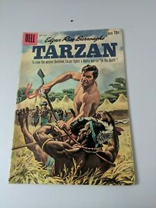 TARZAN #120 VG, George Wilson cover, stains, writing imprints, Dell Comics 1960