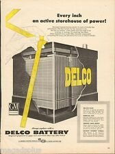 1954 Delco Battery Original Vintage Print Ad