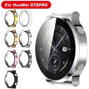 Case Cover For Huawei Watch GT2 GT2E GT2 Pro Tempered Glass Screen Protector B4