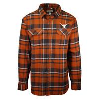 Columbia Men's Texas Longhorns CLG Flare Gun Plaid L/S Flannel Shirt (828)