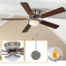 LOW PROFILE CEILING FAN 52 in LED Contemporary Brushed Nickel Flush Mount Dome