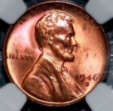 1946-S Old Wheat Cent - NGC MS64 RB (Toned)