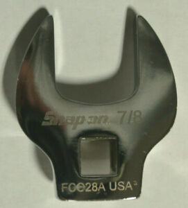 """Snap On FCO28A 3/8"""" Drive SAE 7/8"""" Open-End Crowfoot Wrench"""