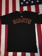Buster Posey San Francisco Giants Majestic T Shirt Small Men's MLB World Series