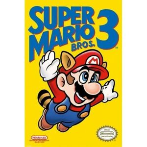 SUPER MARIO 3 - VIDEO GAME POSTER 24x36 - 3035