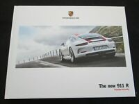 2016 Porsche 911R  Large Hardcover Brochure 991 911 R Limited Sales Book Catalog