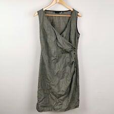 ~ Love Moschino ~ Wrap Style Dress ~ Side Zip ~ Black & White Pattern ~ GB 14 ~
